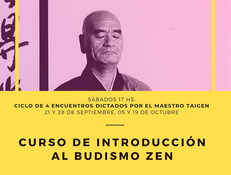 Curso de Introducción al Budismo Zen – Septiembre / Octubre 2019
